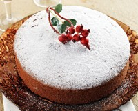 Greek New Years Cake with OLIVE OIL